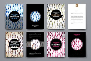 Set of brochure in molecule style.