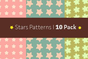 Stars Patterns 10 Pack(AI, PNG, JPG)