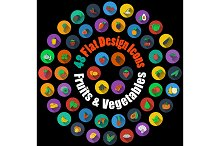 48 Fruits and Vegetable Icons
