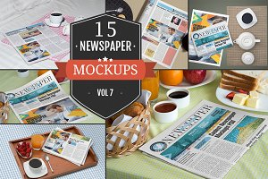 Newspaper Advertising Mockups Vol. 7