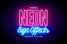 Neon Sign Effects by  in Illustrator Add-Ons