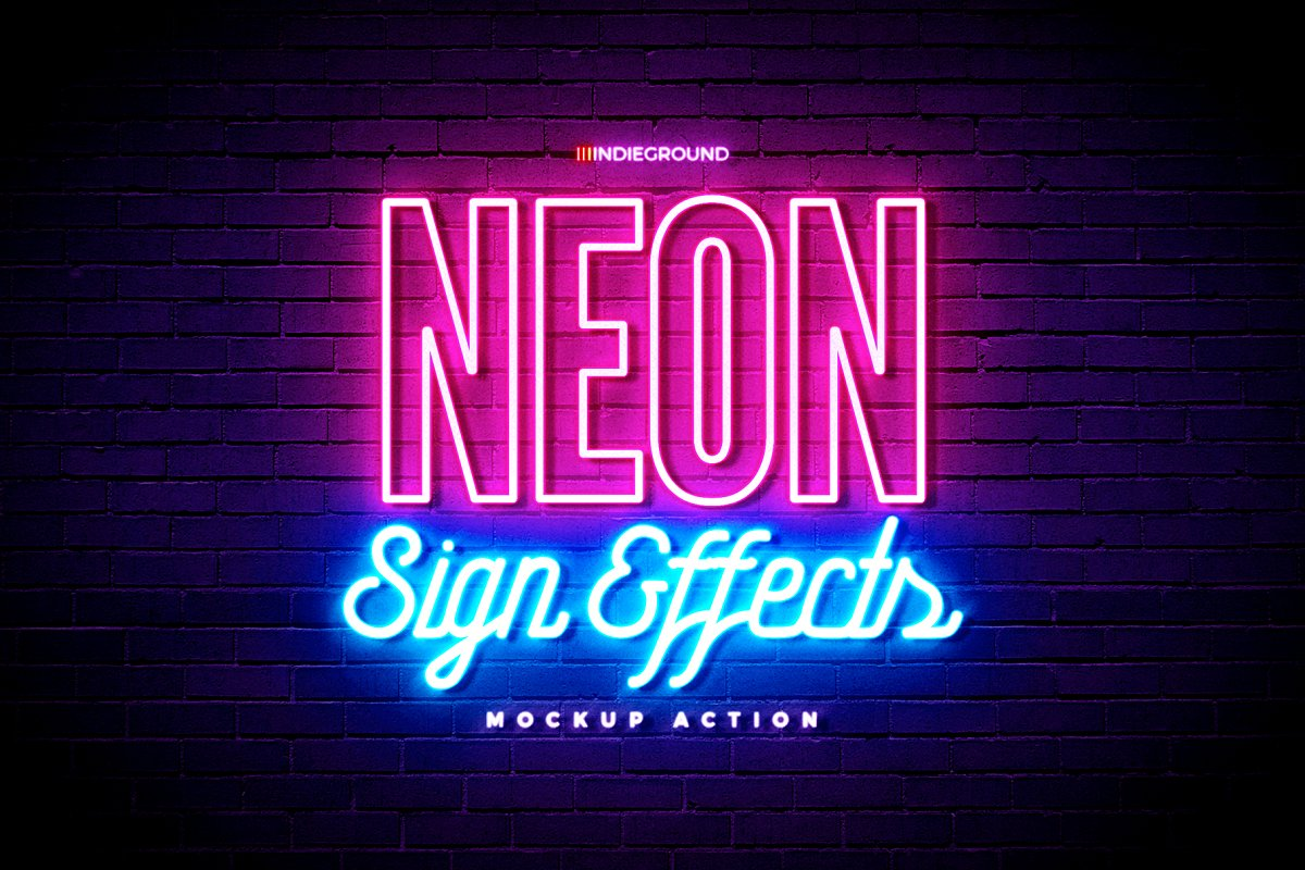 Neon Sign Effects ~ Illustrator Add-Ons ~ Creative Market
