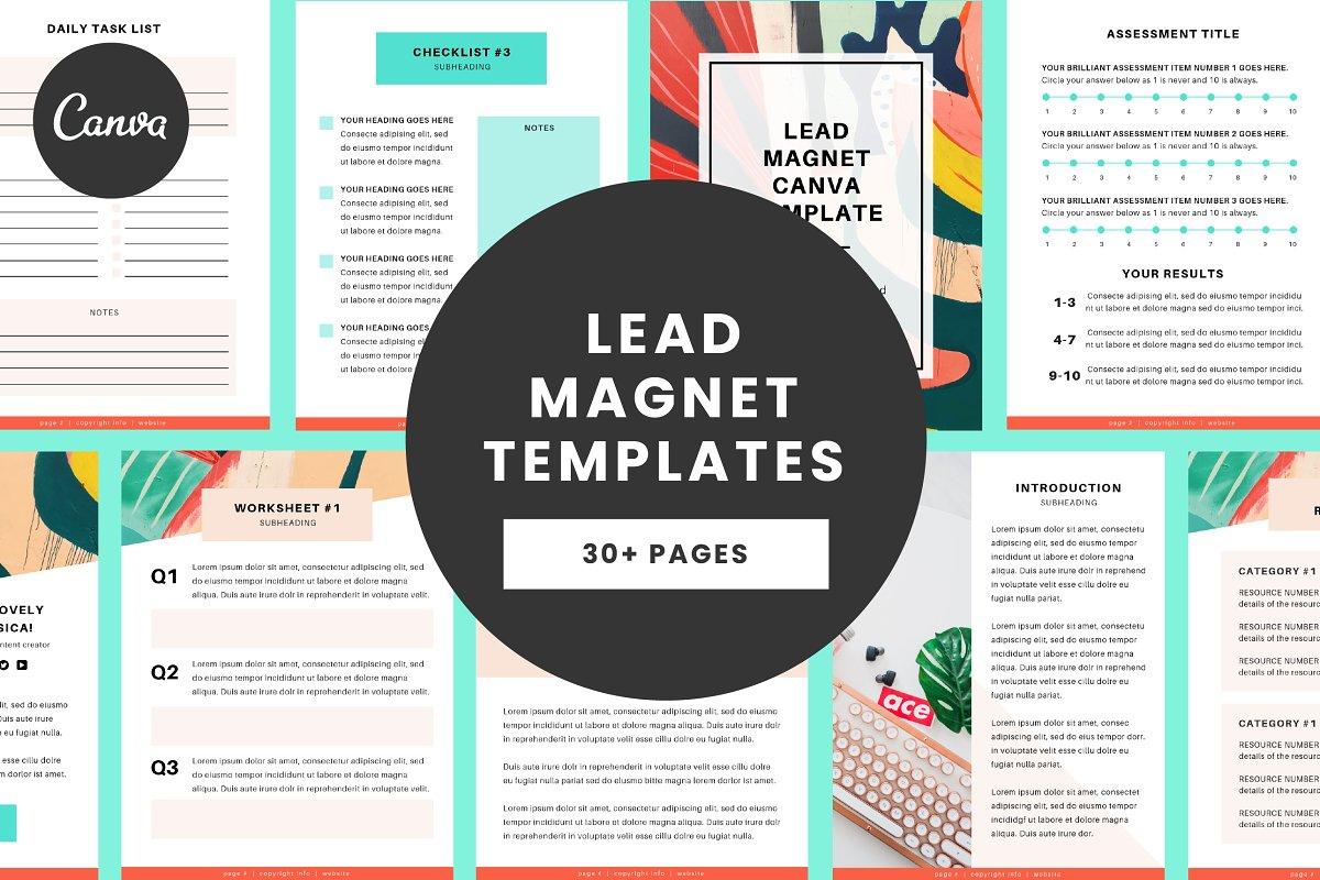 Lead Magnet Canva Template ~ Brochure Templates ~ Creative