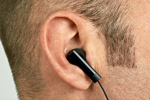 Ear with earphone
