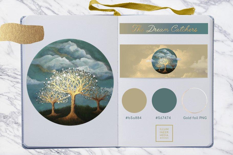 Dream Catchers: Golden Trees & Stars