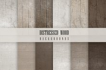 12 Distressed Wood Backgrounds
