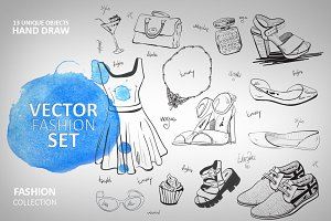Vector fashion collection
