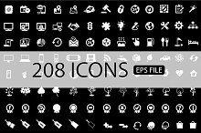 208 ICONS VECTOR SET Buy 1 Get 1