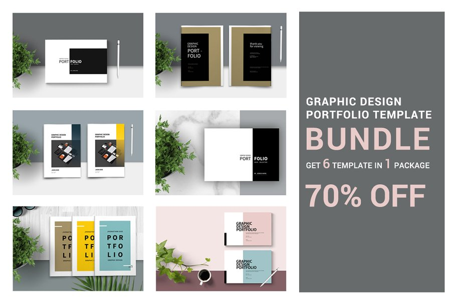 Graphic Design Portfolio - BUNDLE ~ Brochure Templates