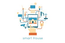 Smart House. Flat design.