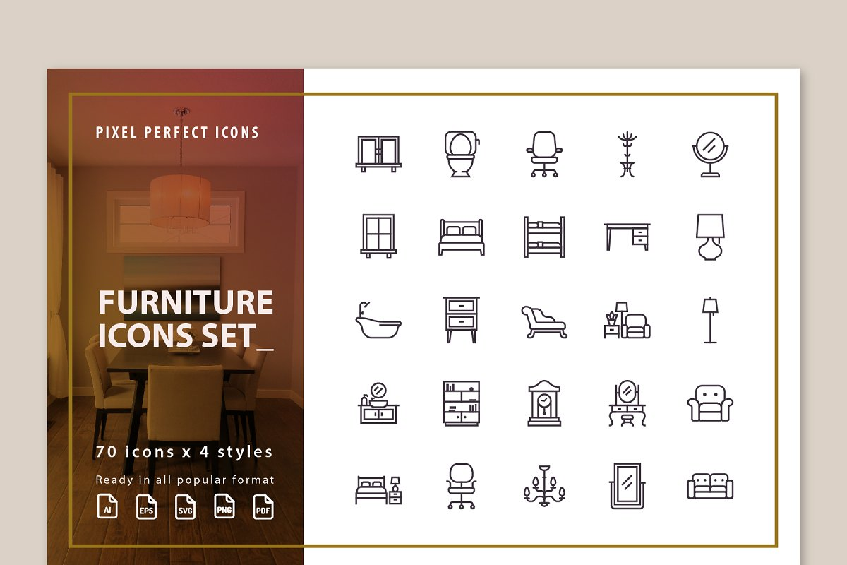 Furniture Full Pack Icon Set