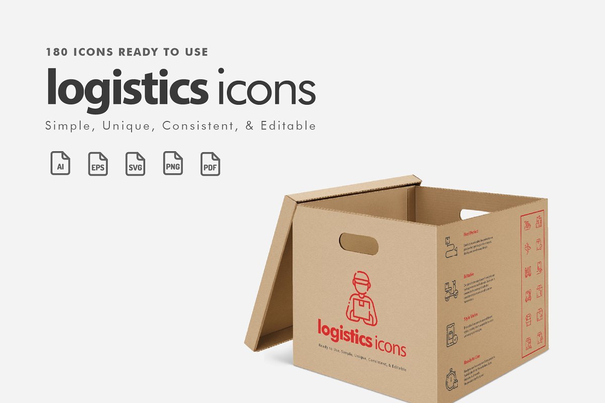 Logistics Icons in Infographic Icons - product preview 8