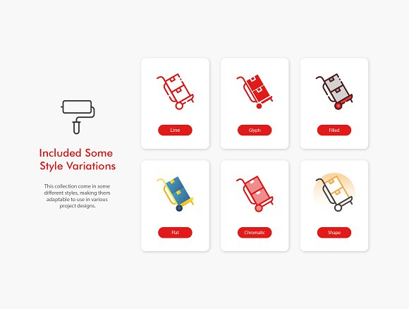 Logistics Icons in Infographic Icons - product preview 3