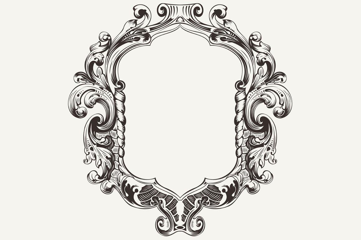 High Ornate Vintage Frame. Vector. ~ Graphics ~ Creative ...
