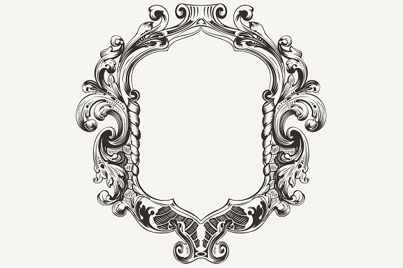 High ornate vintage frame vector graphics on creative for How to make vintage frames