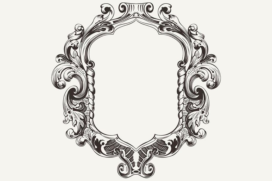 High Ornate Vintage Frame  Vector
