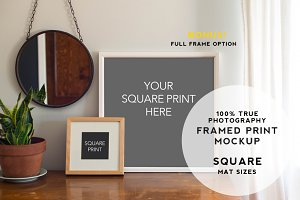 Home Series Framed Print Mockup #2