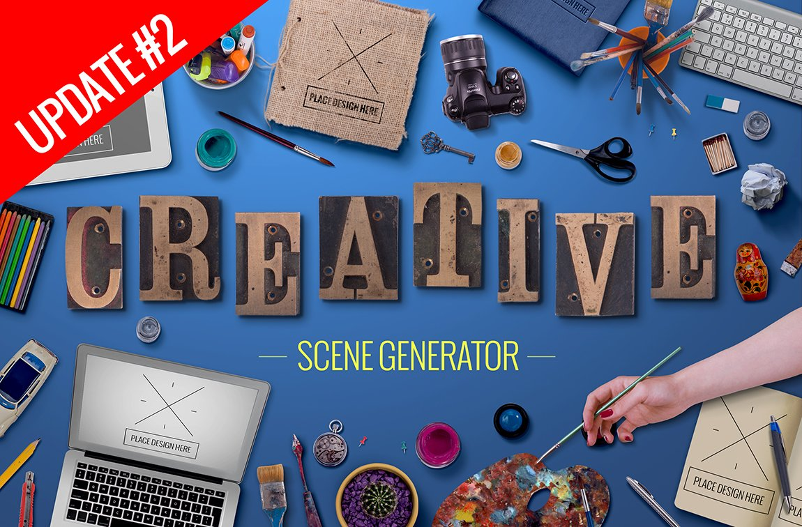 Creative scene generator product mockups creative market spiritdancerdesigns Choice Image