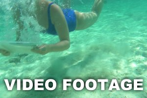 Woman using pad to make underwater