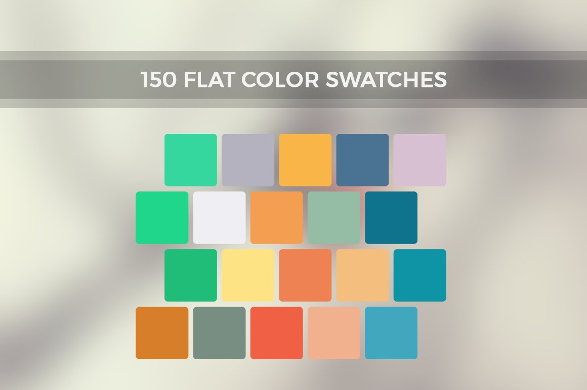 Inspire Me - 150 Flat Color Swatches ~ Illustrator Add-Ons ...