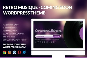 Retro Musique - Coming Soon Wordpres