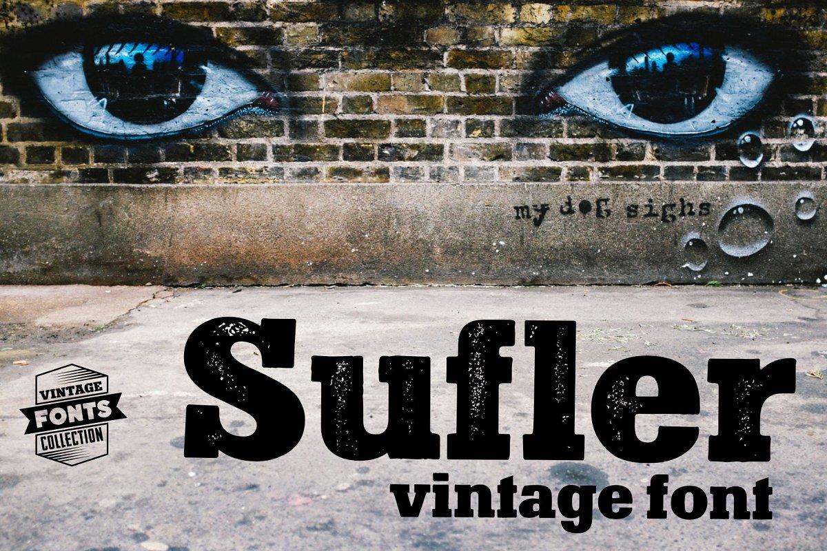Sufler - 2 vintage fonts