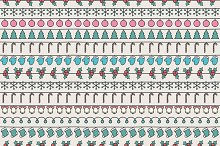Christmas hand drawn pattern. Doodle
