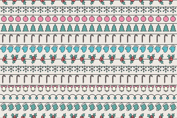 Christmas hand drawn pattern. Doodle - Patterns