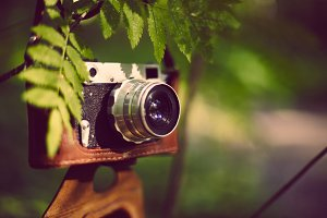 Vintage analog retro film camera