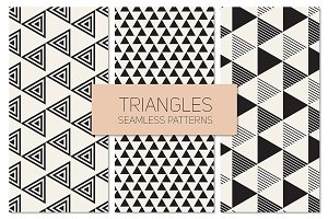 Triangles. Seamless Patterns Set 9