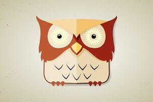 Cute little cartoon owl