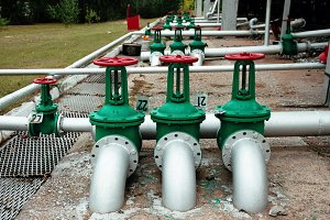 Oil and gas pipe line and valves