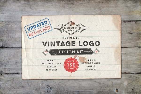 Vintage Logo Design Kit with BONUS