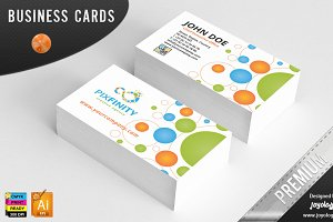 Pixel Dots Infinity Business Cards