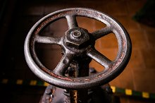 old handwheel of valve