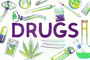 DRUGS: Hand Drawn Illustrations