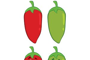 Chili Pepper. Collection Set