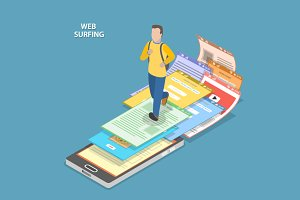 Web surfing concept