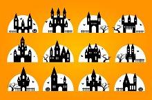 Halloween set of castles