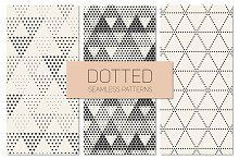 Dotted Seamless Patterns. Set 7