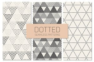 Dotted Seamless Patterns. Set 7