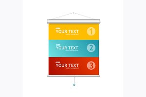 Blank roll up posters. Vector