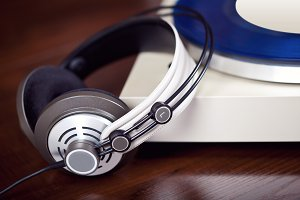 Turntable Record Player Headphones