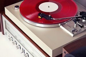 Stereo Turntable Vinyl Record Player