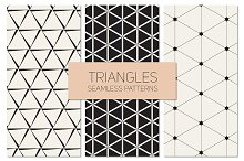 Triangles. Seamless Patterns Set 10