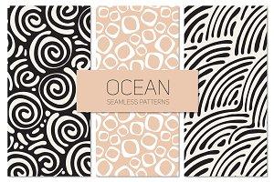 Ocean Seamless Patterns Set