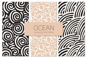 Ocean Seamless Patterns Set