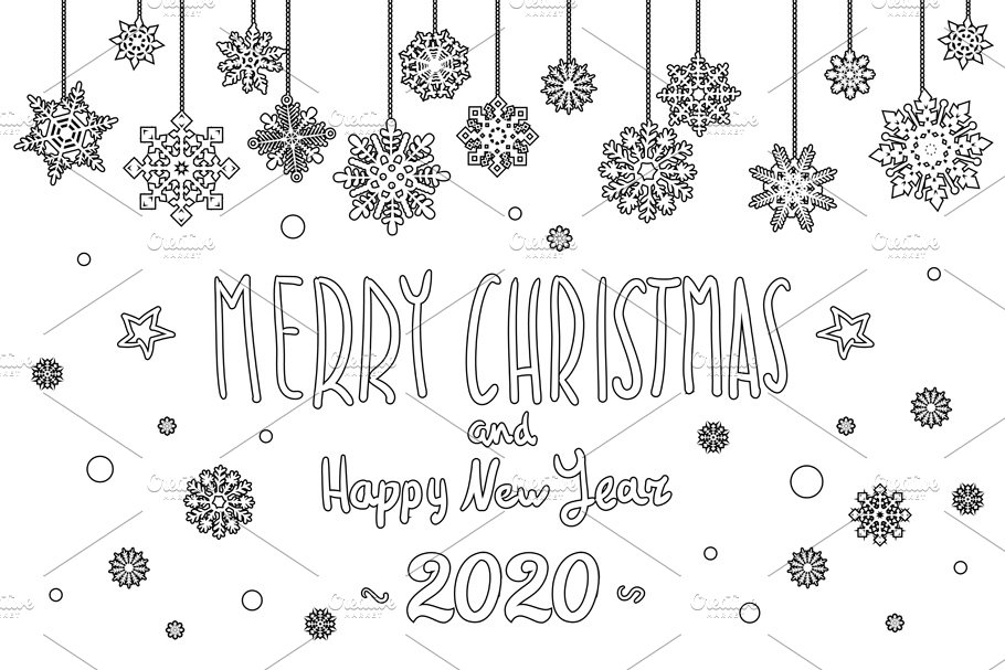 Happy New Year Lettering Design 91