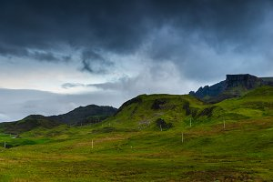 Quiraing mountains view,isle of Skye