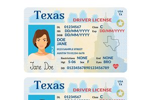 Template Of Driver Card Texas